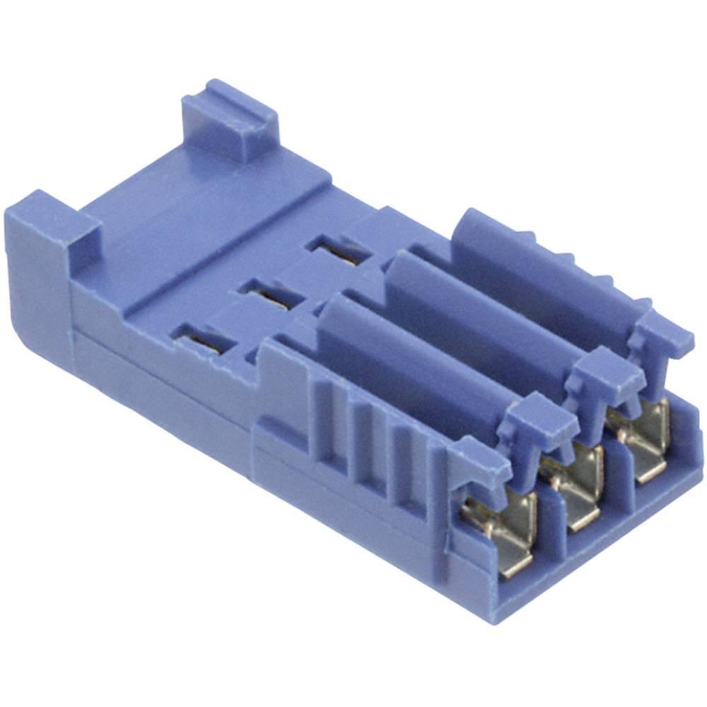 Tilslutningskabinet-kabel AMPMODU HE14 (value.1360570) Samlet antal poler 3 TE Connectivity 281786-3 Rastermål: 2.54 mm 1 stk