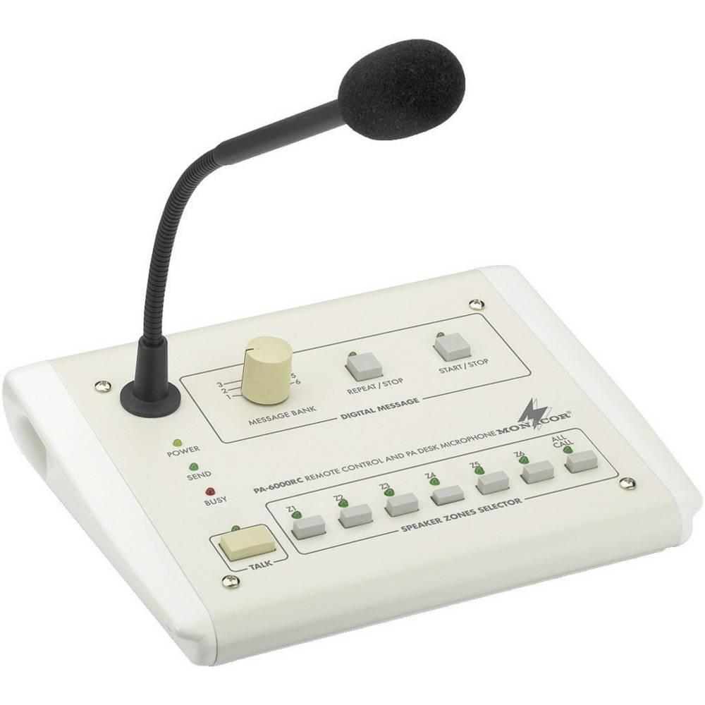 ELA namizni mikrofon Monacor PA-6000RC
