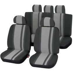 Komplet sedežnih prevlek Unitec Newline, 14-delni, črno sive barve, vsi sedeži 84957