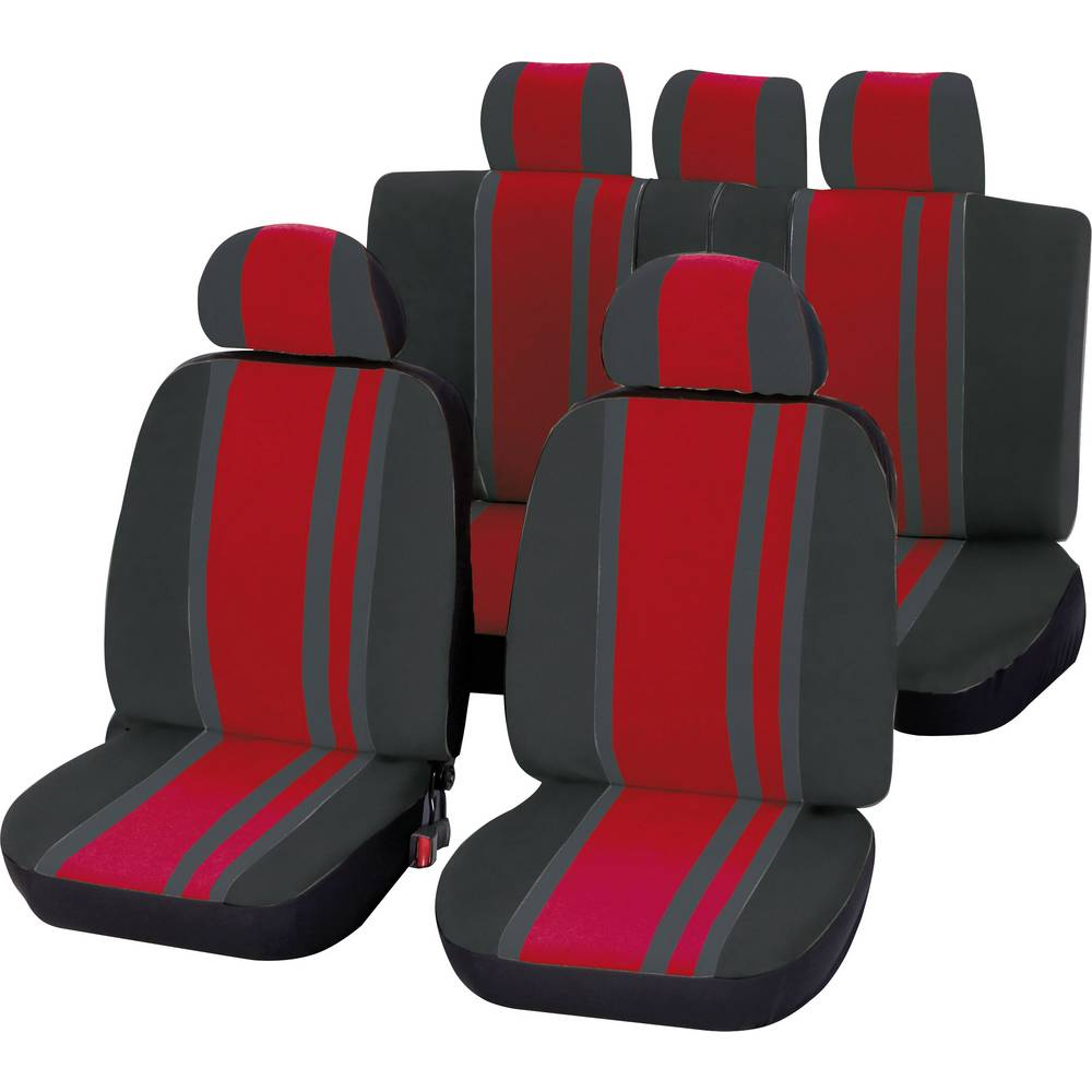 Komplet sedežnih prevlek Unitec Newline, 14-delni, rdeče črne barve, vsi sedeži 84958