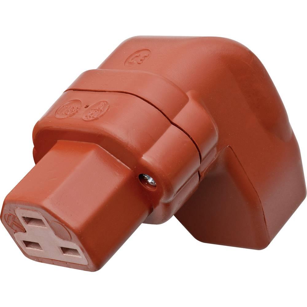 Utični konektor za tople uređaje C21 Kalthoff, ženski, pod kutem broj polova: 2 + PE 16 A crvena 444Si/Wi 1 komad