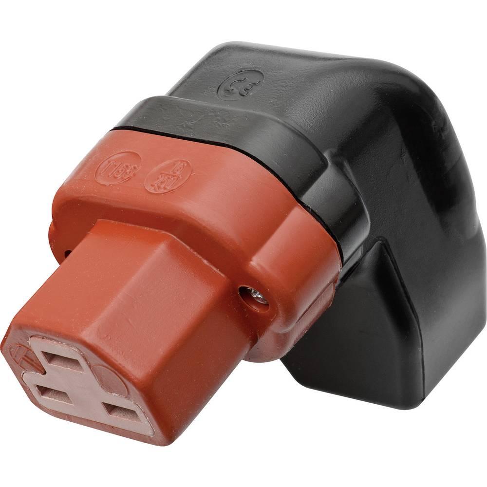 Utični konektor za tople uređaje C21 Kalthoff, ženski, pod kutem broj polova: 2 + PE 16 A crna, crvena 444P/Si/Wi 1 komad