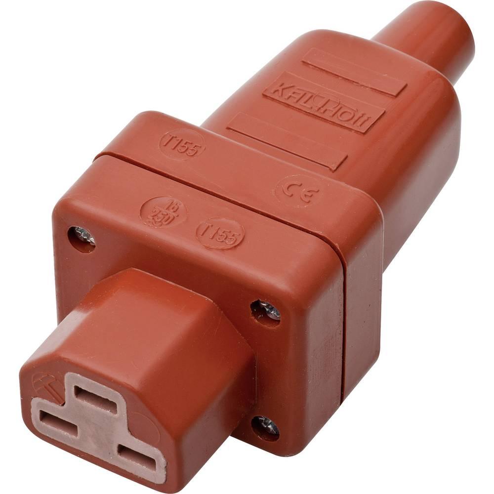 Utični konektor za tople uređaje C21 Kalthoff, ženski, ravni broj polova: 2 + PE 16 A crvena 444Si4 1 komad