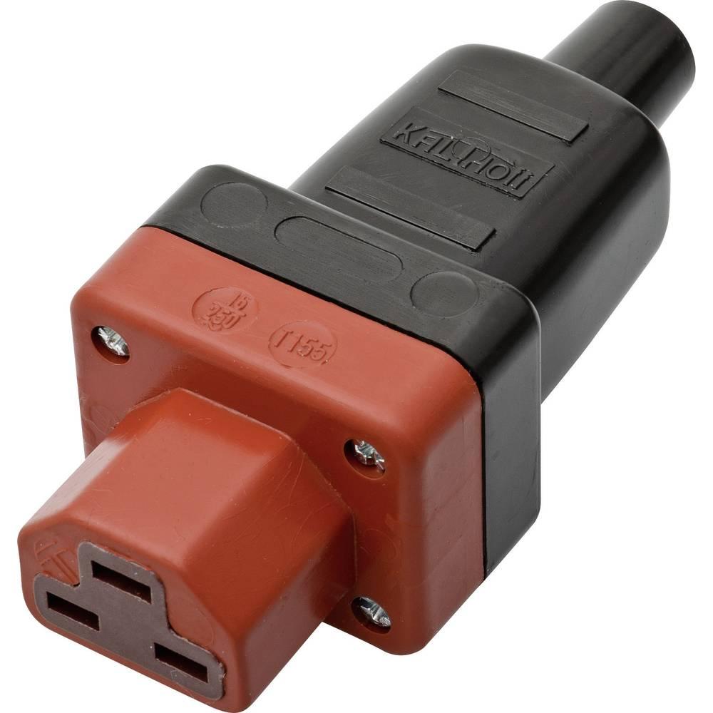 Utični konektor za tople uređaje C21 Kalthoff, ženski, ravni broj polova: 2 + PE 16 A crna, crvena 444P/Si4 1 komad