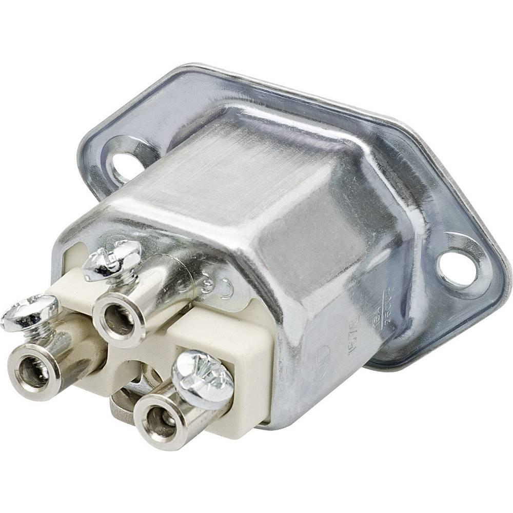 Utični konektor za tople uređaje C22 Kalthoff šasijski Utični konektor ugradnja broj polova: 2 + PE 16 A metal 444.1 1 komad