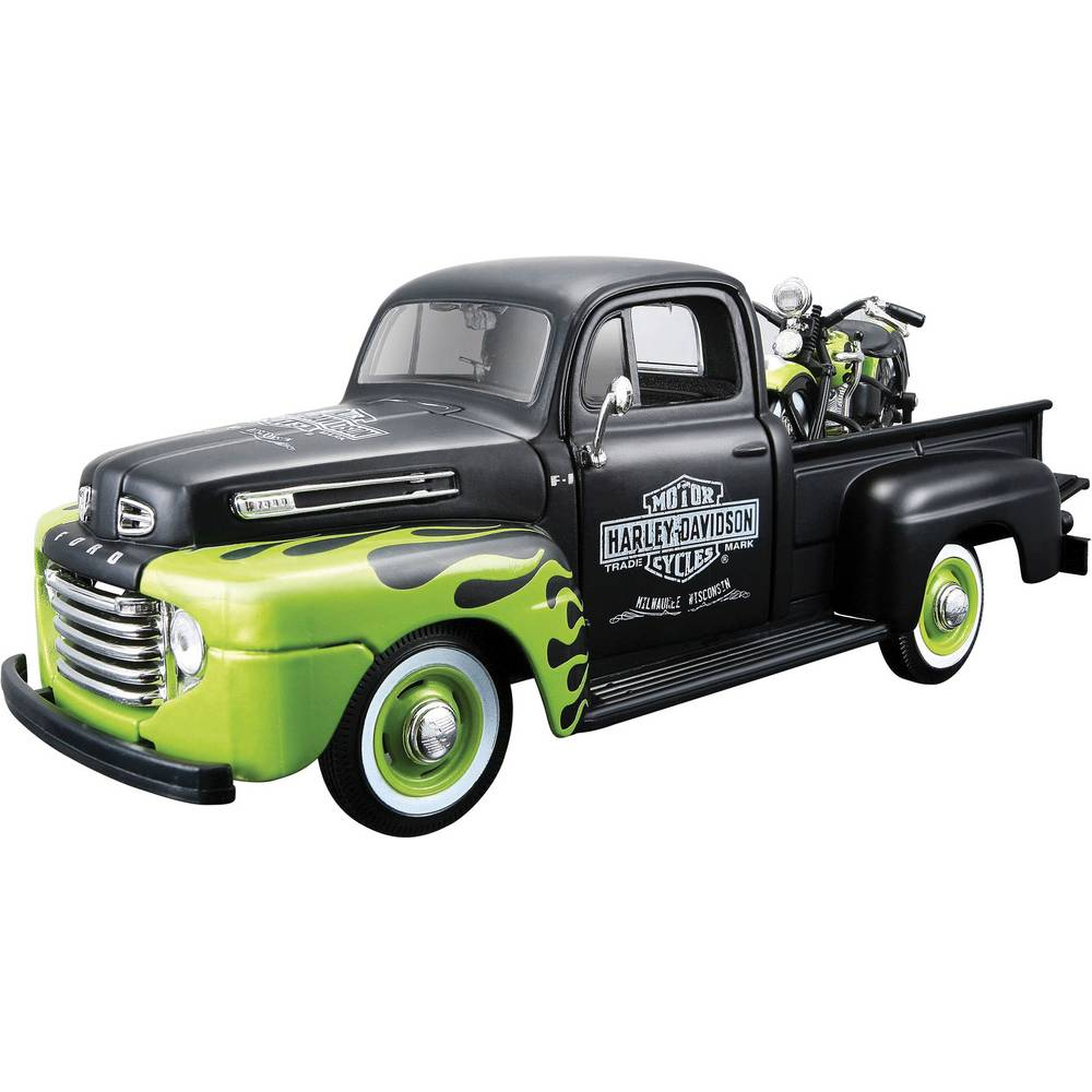 Model automobila Ford Pick Up F1 ´48 i model motora FL Panhead Harley Davidson 532171 Maisto 1:24