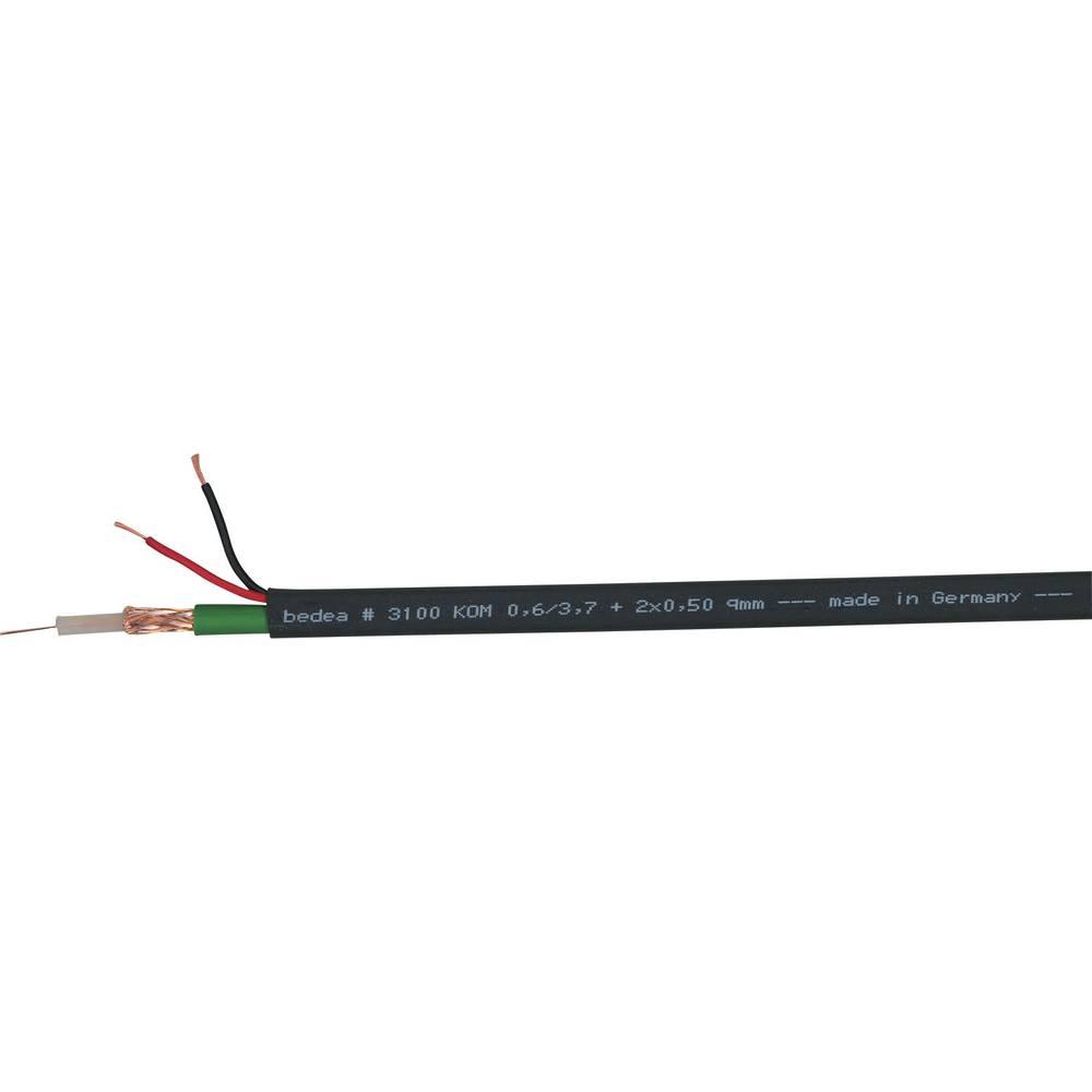 Multicorekabel KOM0,6/3,7A 2 x 0.5 mm črna Bedea 31000900 metrsko blago