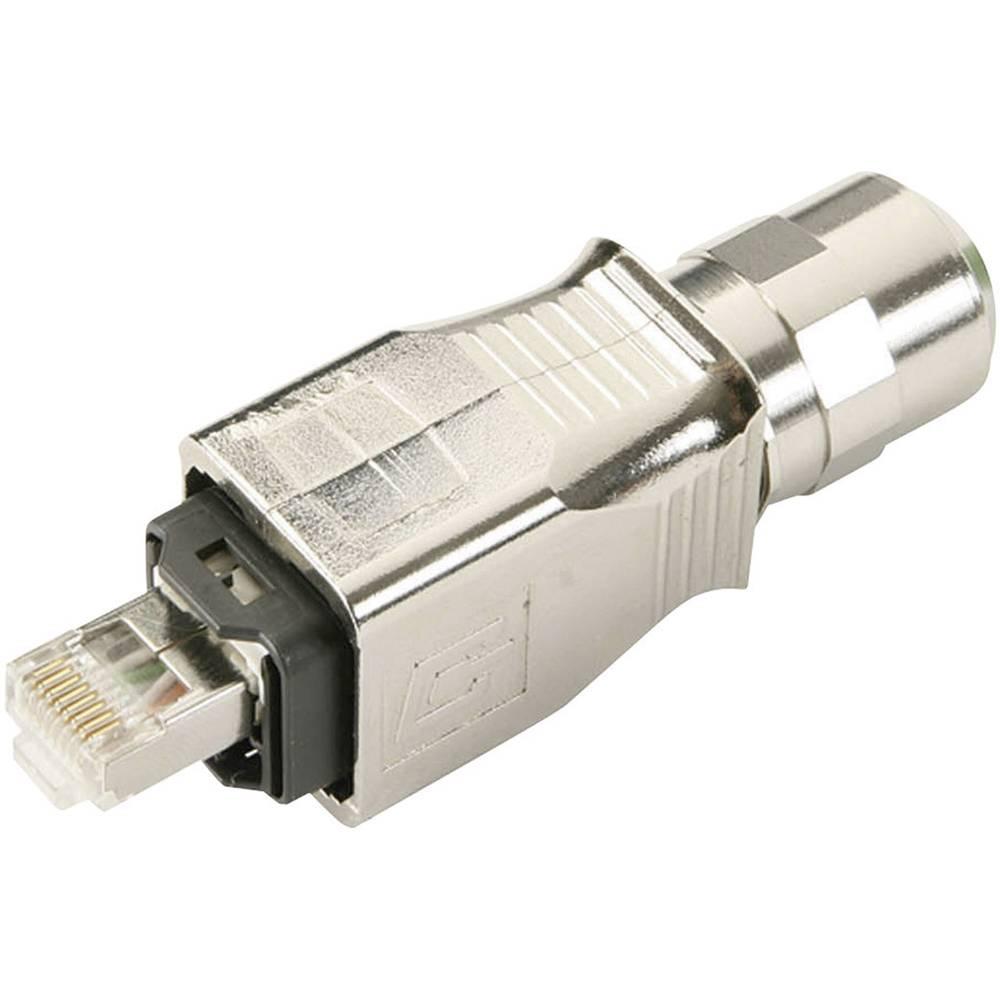 RJ45-vtični komplet, verzije 14 raven, polov:8P8C J80026A0019 kovinska Telegärtner J80026A0019 1 kos