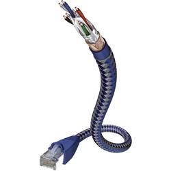RJ45 omrežni priključni kabel CAT 6 SF/UTP [1x RJ45-vtič - 1x RJ45-vtič] 0.50 m srebrn-moder Inakustik