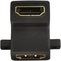 HDMI adapter, kotni na eni strani [1x HDMI vtičnica   1x HDMI vtičnica] 0 m črne barve, Inakustik