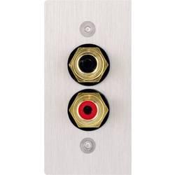 Cinch AV pokrov priključkov za zvočnik [2x Cinch vtičnica - 2x spajkalni] nerjavno jeklo Inakustik