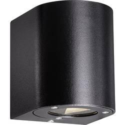Nordlux Canto zunanja stenska LED-svetilka, 6 W, topla bela svetloba, črne barve, 77571003
