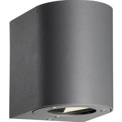 Nordlux zunanja stenska LED-svetilka Canto, 6 W, topla bela svetloba, sive barve, 77571010