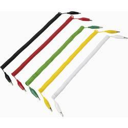 Komplet mjernih vodova [ kvačice za odvajanje - kvačice za odvajanje] 3.20 m crna, crvena, žuta, zelena, bijela VOLTCRAFT 280MM/