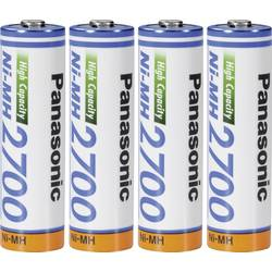 Laddbart batteri R6 (AA) NiMH Panasonic Panasonic AA 2700 mAh 1.2 V 4 st