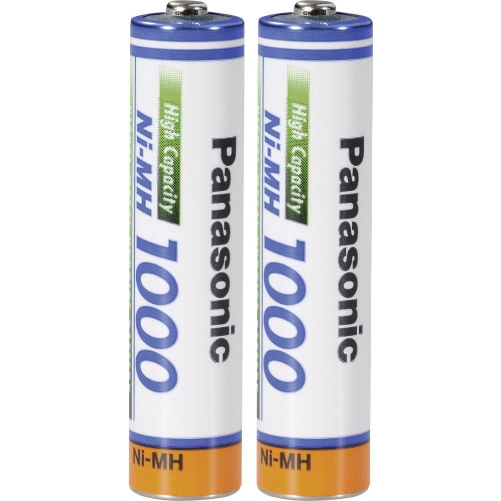 Micro (AAA) akumulator NiMH Panasonic Panasonic AAA 1000 mAh 1.2 V 2 kosa