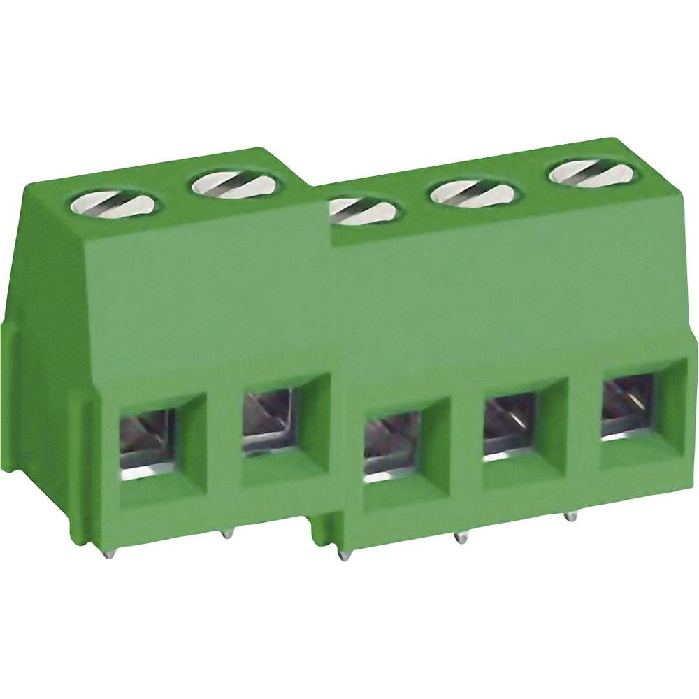 Skrueklemmeblok DECA MB310-500M02 3.30 mm² Poltal 2 Grøn 1 stk