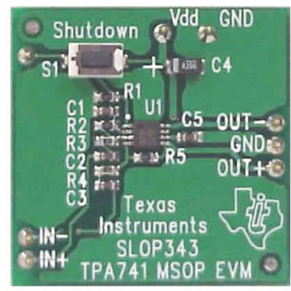 Razvojna plošča Texas Instruments TPA741EVM