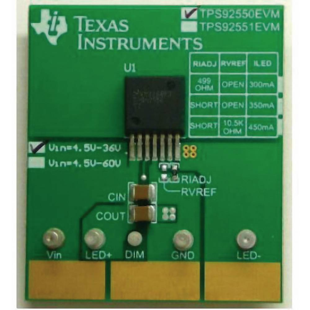 Razvojna plošča Texas Instruments TPS92550EVM/NOPB