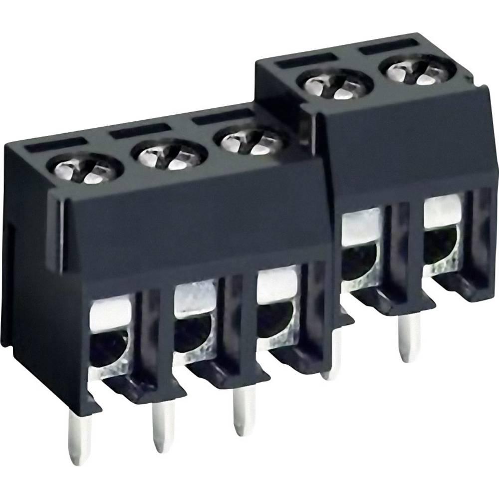 Skrueklemmeblok DECA MA212-350M02 1.31 mm² Poltal 2 Sort 1 stk