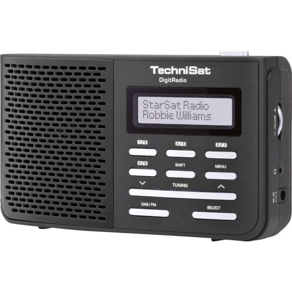 DAB+ radio DigitRadio 210 TechniSat, putni radio crna