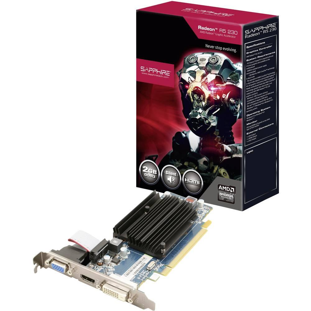 Grafična kartica Sapphire AMD Radeon R5 230 2 GB DDR3-RAM PCIe x16 DVI, VGA, HDMI™