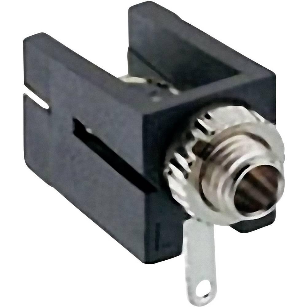 Klinken-vtični konektor, 2.5 mm vtičnica, vgraden horizontalen število polov: 2 Mono črne barve Lumberg 1501 09 1 kos
