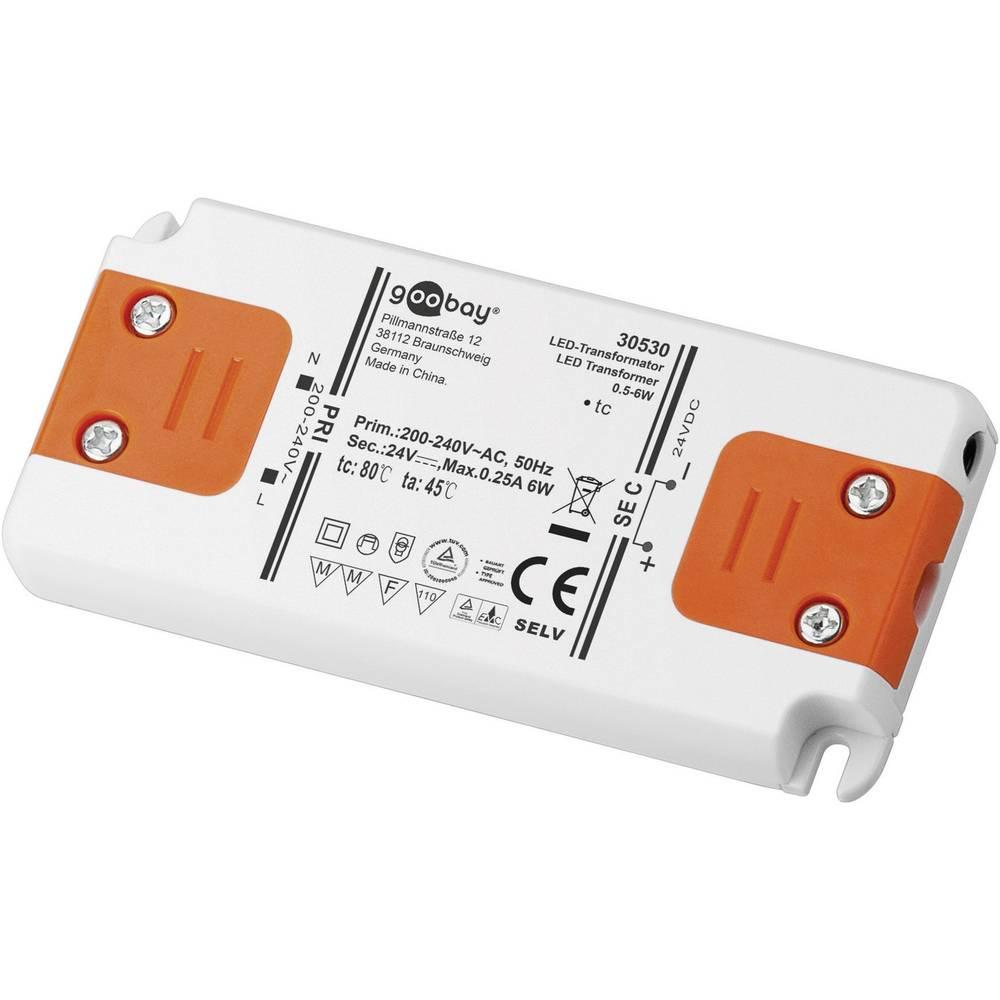 Goobay LED gonilnik LED-transformator; SELV Class II DC delovanje 24 V 0 - 6 W 30530