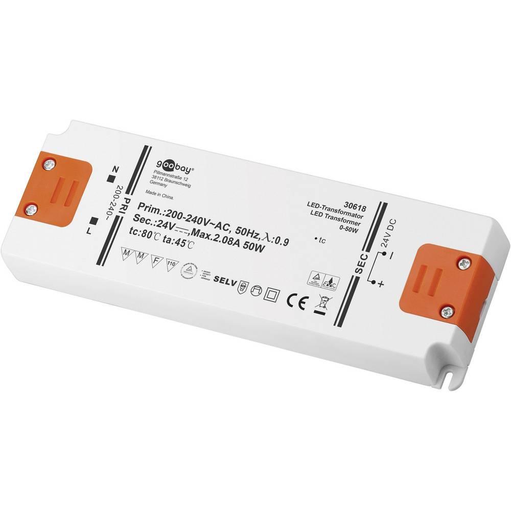 Goobay LED gonilnik LED-transformator DC delovanje 24 V 0 - 50 W 30618