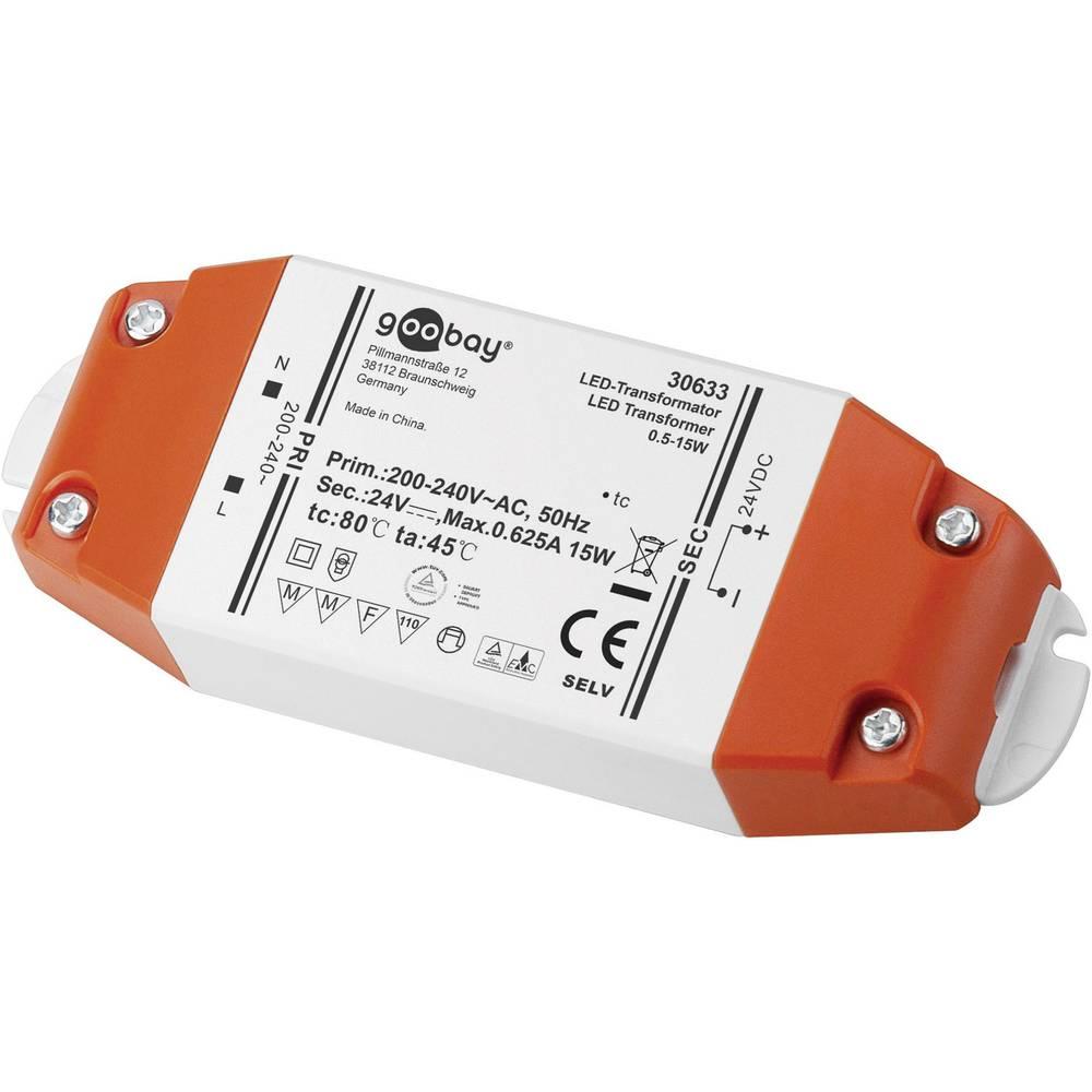 Goobay LED gonilnik LED-transformator DC delovanje 24 V 0,5 - 15 W 30633