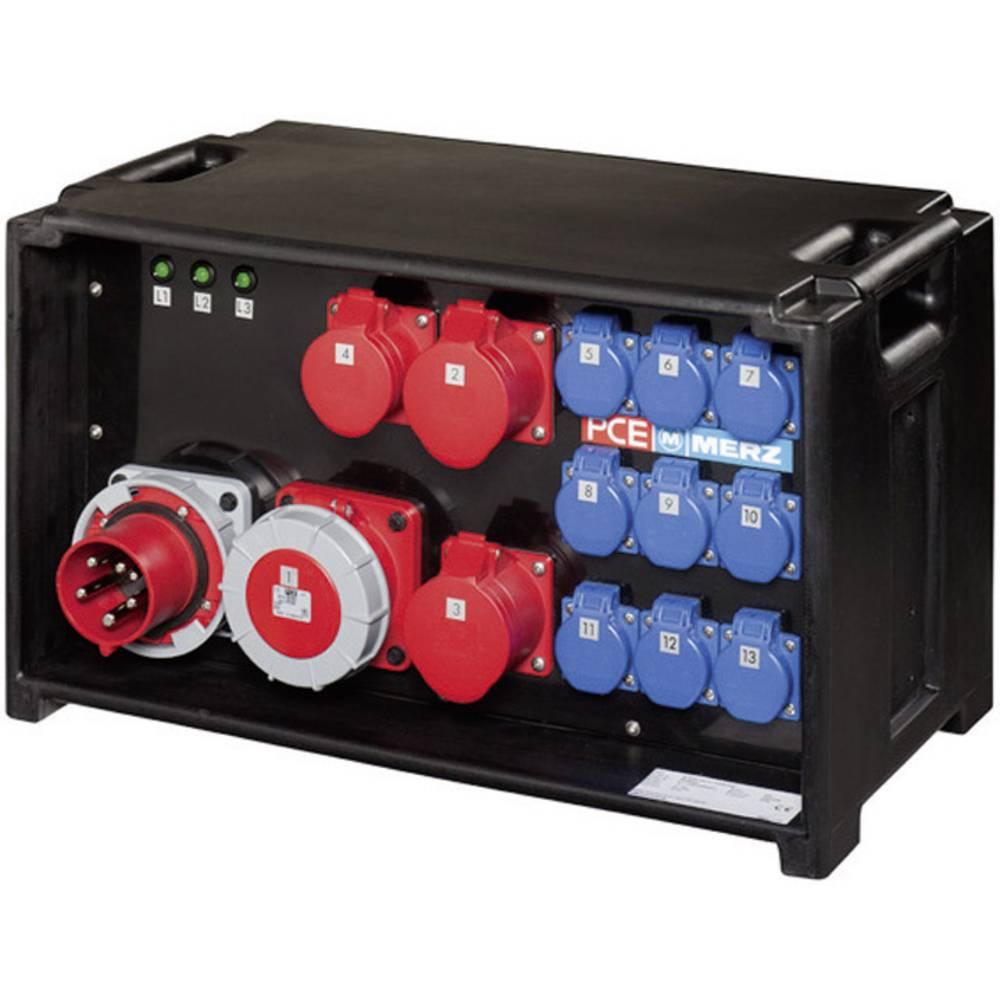Vtični razdelilnik PCE Merz MZ80030 za industrijo in gradnjo M-SVE3 32/11-12 22 kVA 32 A CEE-vtičnica 32 A z 1 m ožičenjem