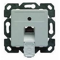 Omrežna vtičnica podometna uporaba z osrednjo ploščo CAT 5e 1 vhod Telegärtner Alpine Bela J00020A0419
