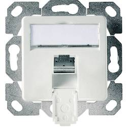 Omrežna vtičnica podometna uporaba z osrednjo ploščo CAT 6 1 vhodTelegärtner Alpine Bela J00020A0505