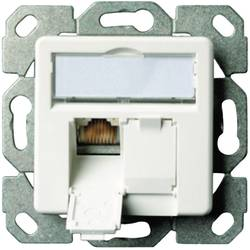 Omrežna vtičnica podometna uporaba z osrednjo ploščo CAT 6 2 vhodaTelegärtner Alpine Bela J00020A0500