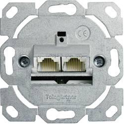 Omrežna vtičnica, poravnana uporaba CAT 6, dva vhoda Telegärtner J00020A0502