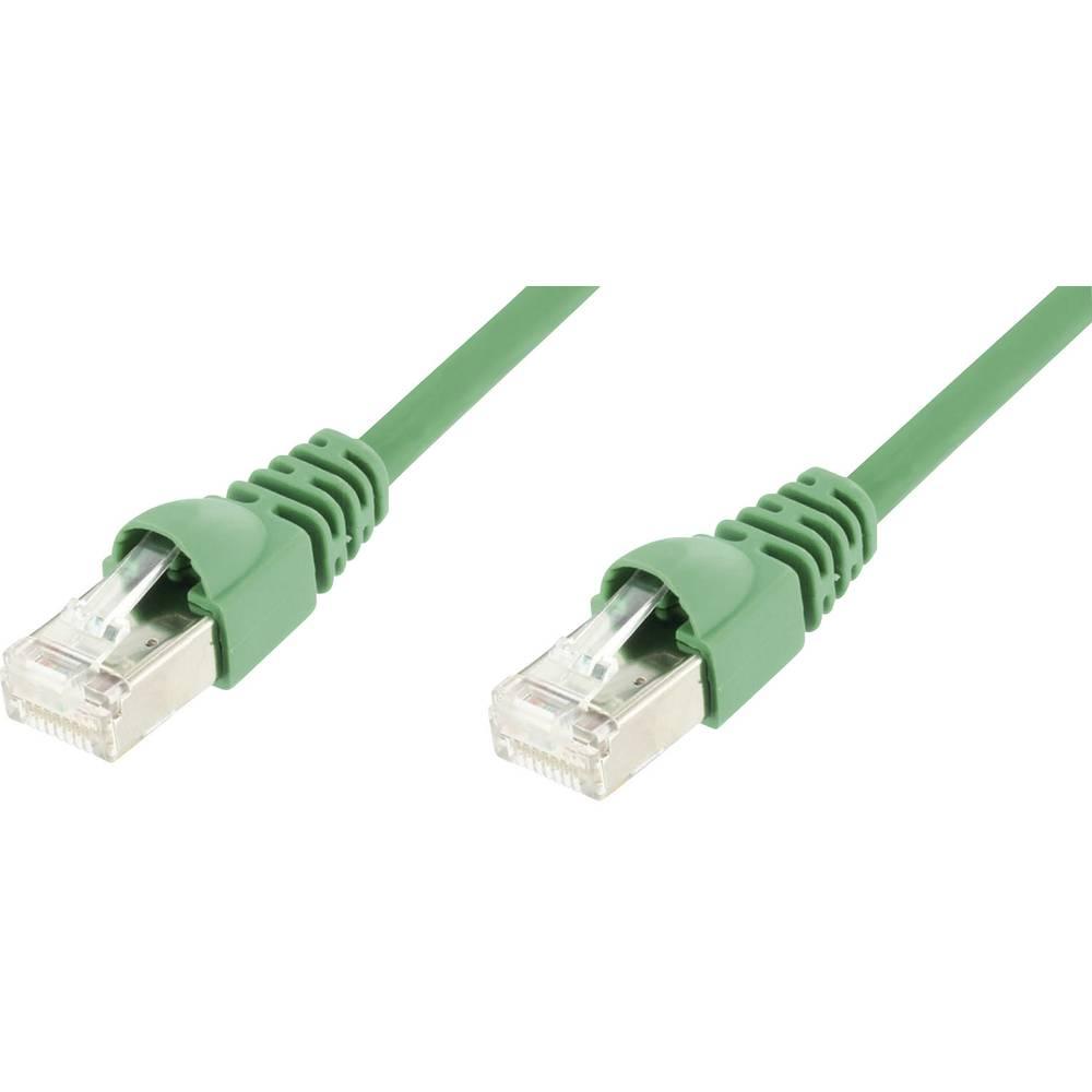 RJ45 omrežni kabel CAT 5e F/UTP [1x RJ45 konektor - 1x RJ45 konektor] 50 m zelen, z varovalom L00006D0085 Telegärtner