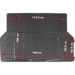 Universal bagagerumsmåtte, som kan tilskæres DINO Kofferraummatte aus Gummi 140x108cm -Zuschneidbar- Sort