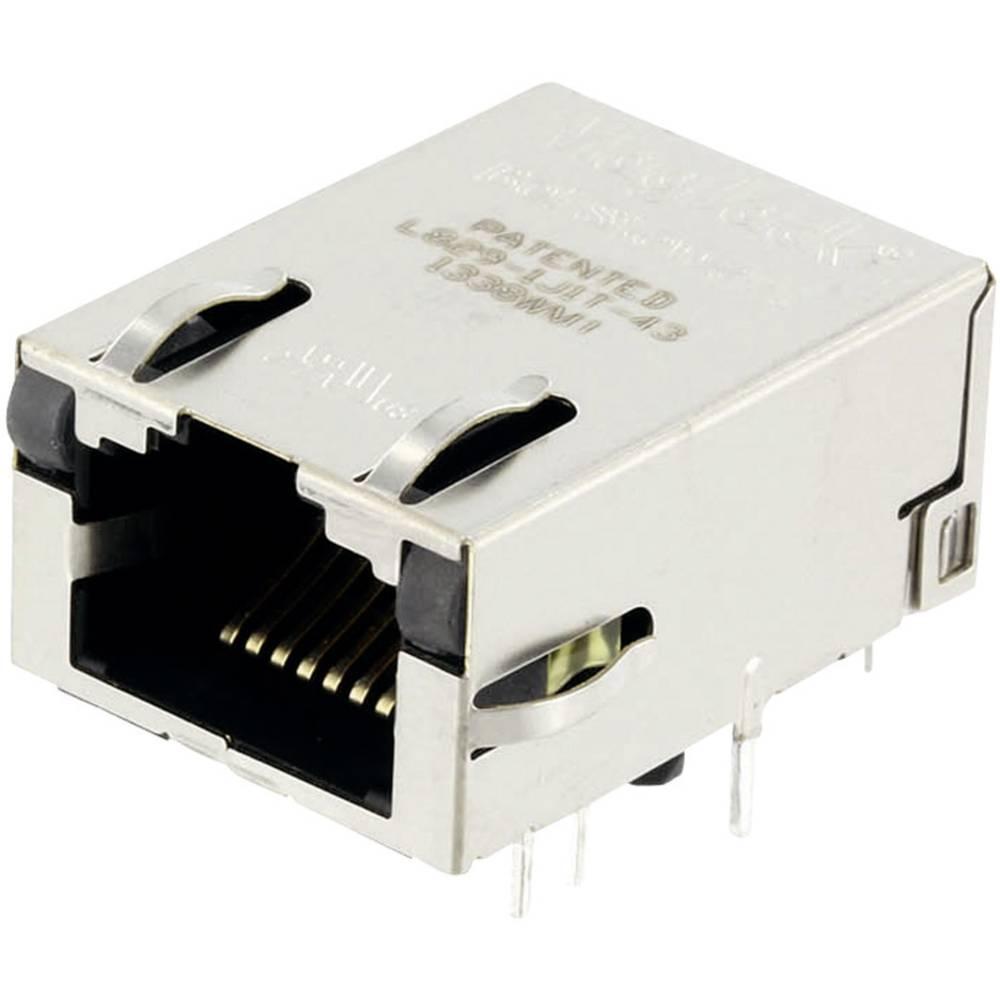 MagJack Gigabit Ethernet 8 pretvornik z LEDs ULP vtičnico, vgraden horizontalen Gigabit Ethernet, polov: 8P8C ponikljan, kovinsk