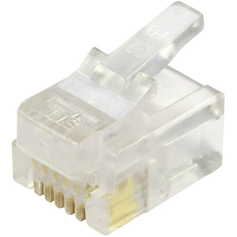 Modularni vtič, nezaščiten za okrogli kabelski vtič, raven, polov:6P6C 937-SP-3066R prozoren BEL Stewart Connectors 937-SP-3066R