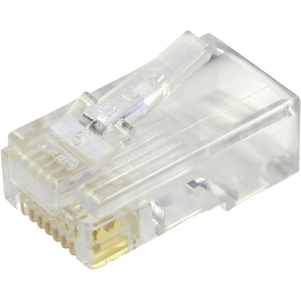 Modularni vtič, nezaščiten za ploščat vtič, raven, polov:8P8C 940-SP-3088 prozoren BEL Stewart Connectors 940-SP-3088 1 kos