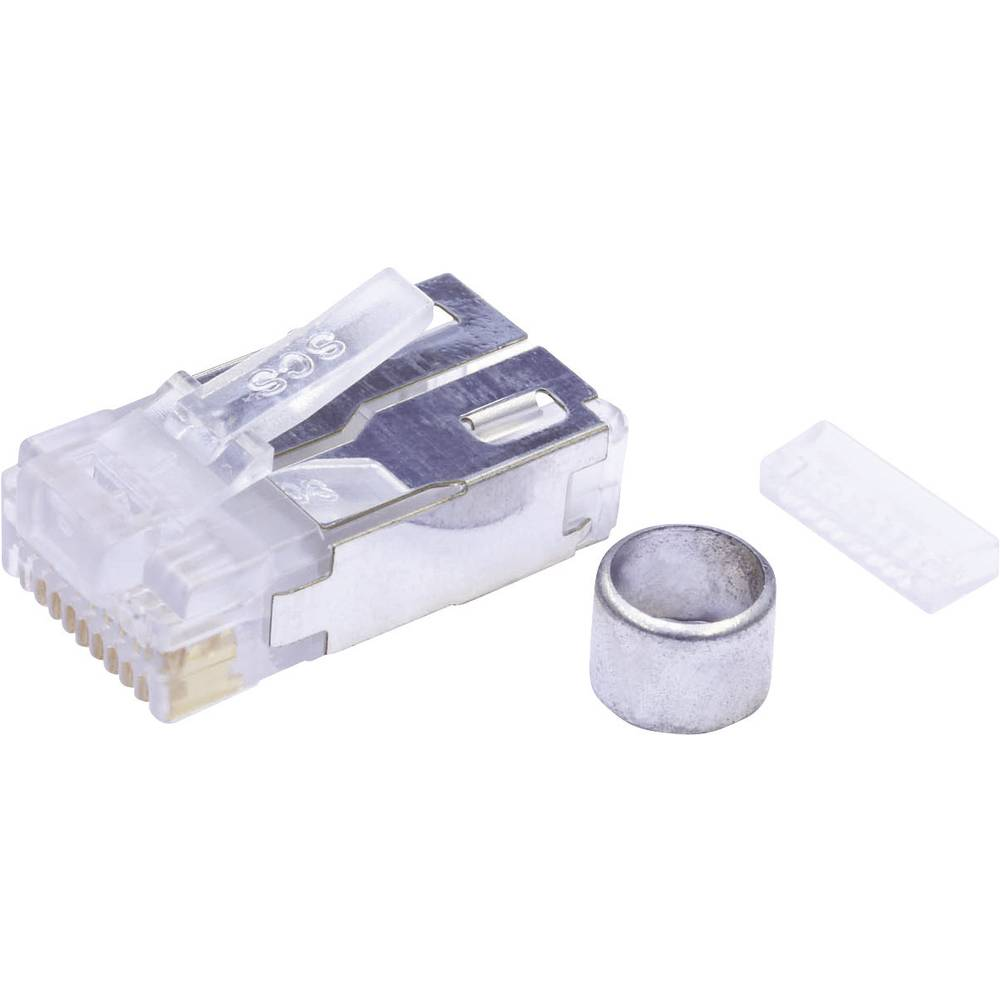 Modularni vtič,komplet zaščiten kat.5 raven, polov:10P10C 940-SP-361010-A217 prozoren BEL Stewart Connectors 940-SP-361010-A217