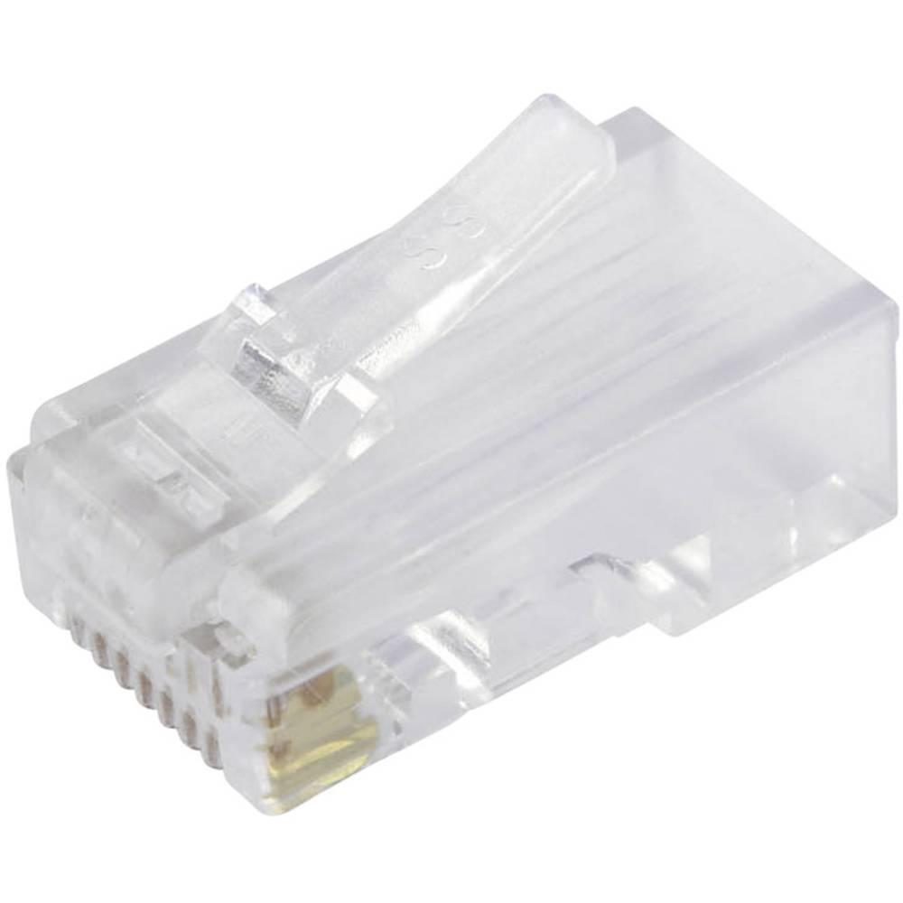 Modularni vtič, nezaščiten kat.5e vtič, raven, polov:8P8C SS-37000-002 prozoren BEL Stewart Connectors SS-37000-002 1 kos