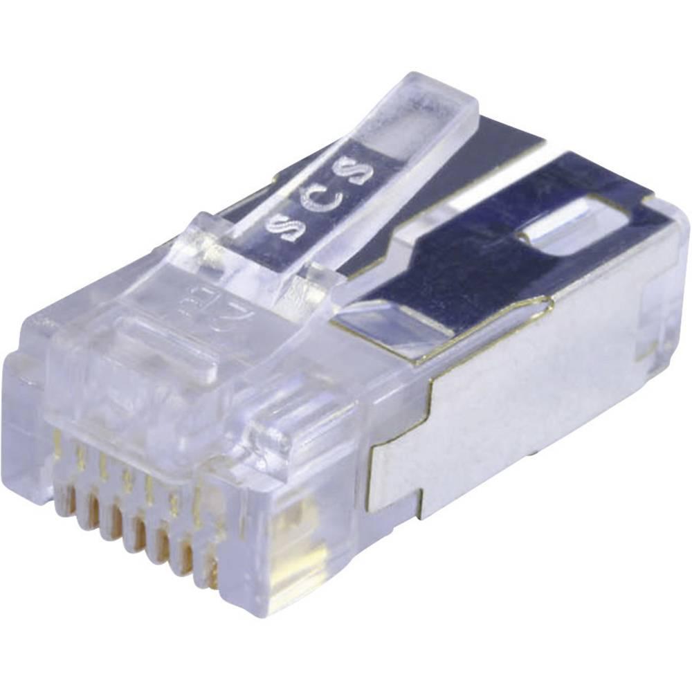 RJ45 Stik, lige BEL Stewart Connectors 943-SP-370808SM2-FS-B1000 CAT 5e Glasklar 1 stk
