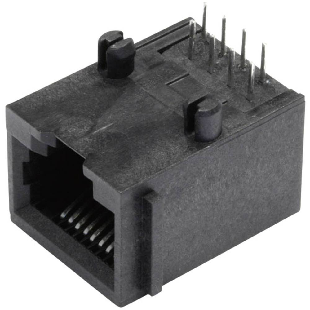 Modularna-vgradna vtičnica, nezaščitena, s prirobno vtičnico, vgradna, horizontalna, polov: 8P8C SS64800-005F črne barve BEL Ste