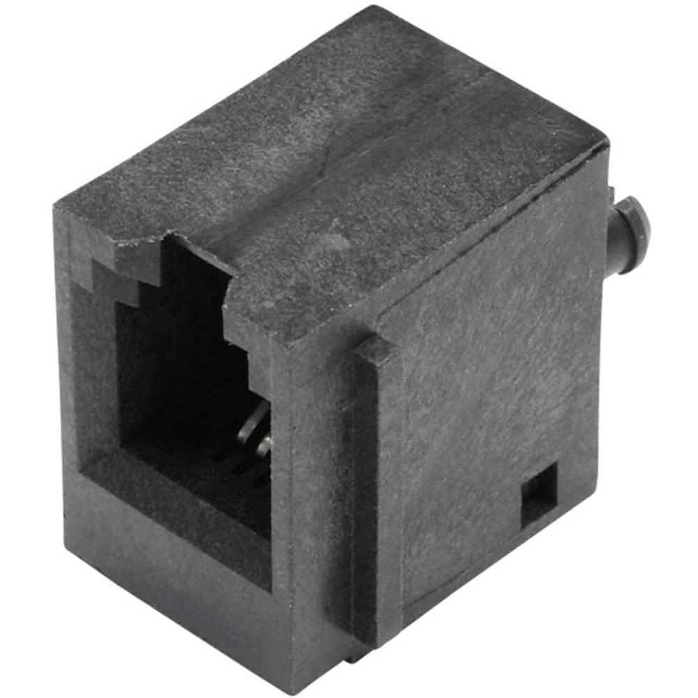 Modularna-vgradna vtičnica, vertikalna, nezaščitena, s prirobno vtičnico, vgradna, vertikalna, polov: 4 P4C SS65400-001F črne ba