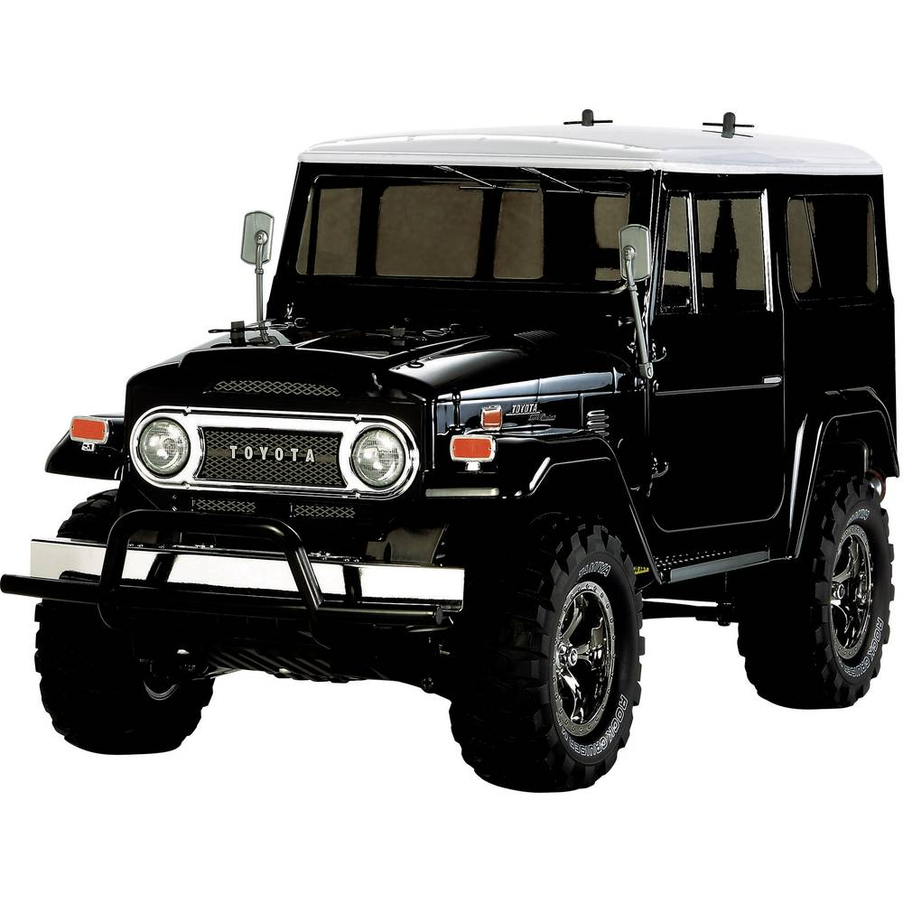 RC model Tamiya 1:10, elektr. terenec Toyota Land Cruiser 40 Black, krtačni motor, 4WD, komplet za sestavlj. 300058564