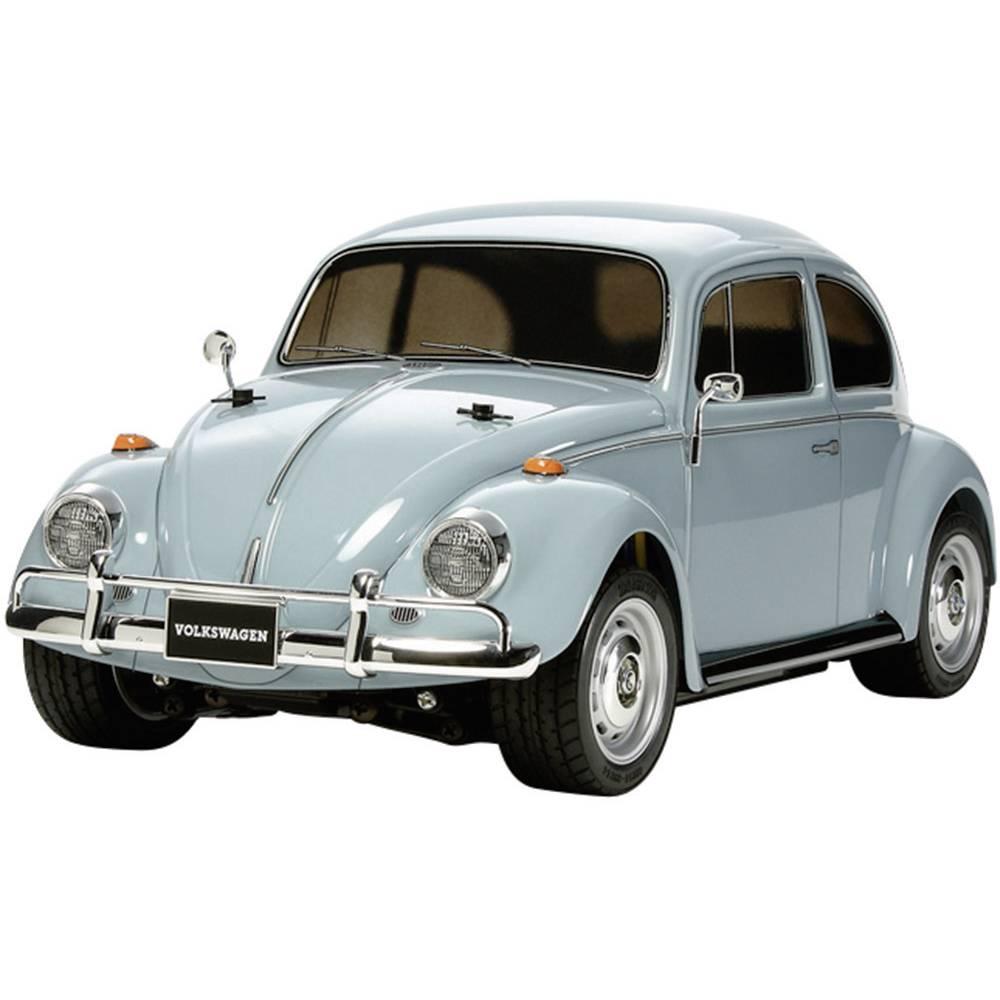 RC model avtomobila Tamiya 1:10, električni cestni model Volkswagen Beetle, krtačni elektromotor, 2WD, komplet za sestavljanje