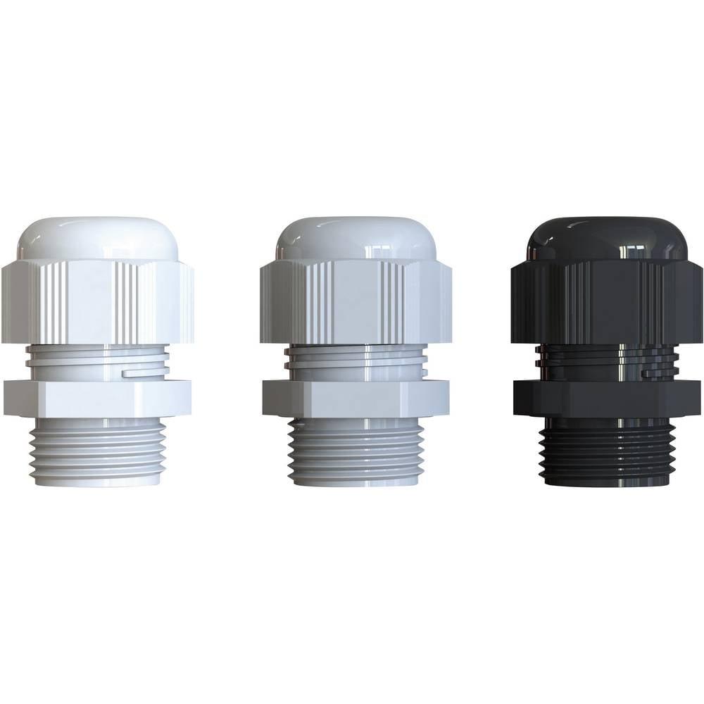 Kabelforskruning Bimed BS-07 PG29 Polyamid Sølvgrå (RAL 7001) 20 stk