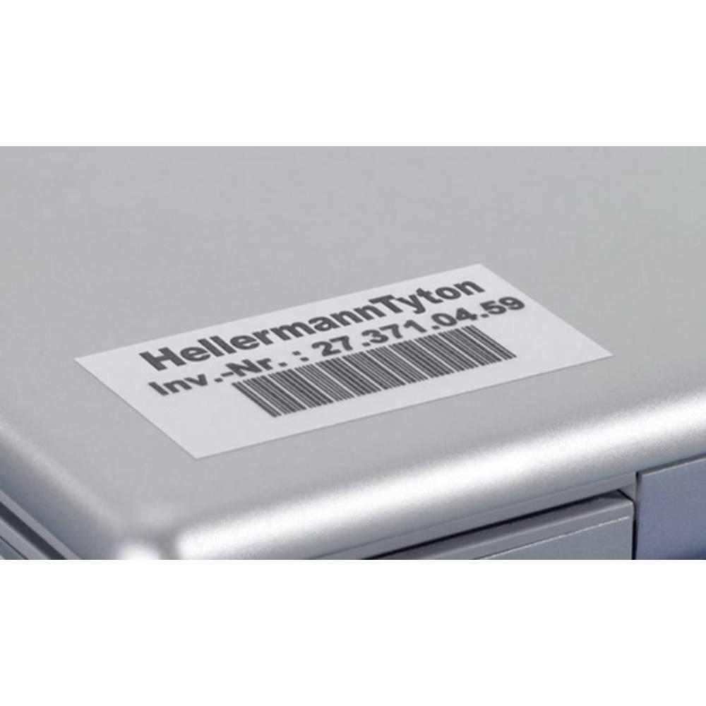 Etikete za označevanje kablov Helatag 25.4 x 8.5 mm označevalno polje: srebrne barve HellermannTyton 594-01103 TAG155LA4-1103-SR