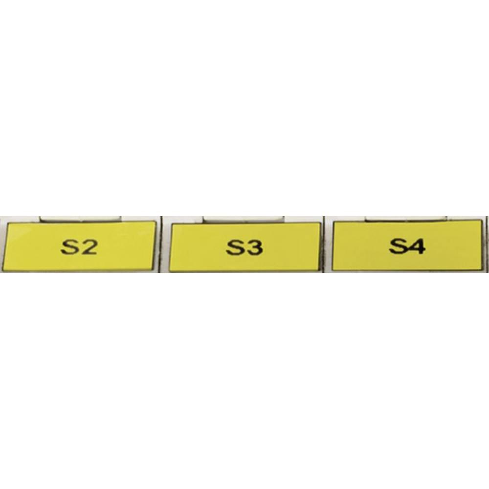 Etikete za označevanje kablov Helatag 20 x 8 mm označevalno polje: rumene barve HellermannTyton 594-11102 TAG121LA4-1102-YE Anza